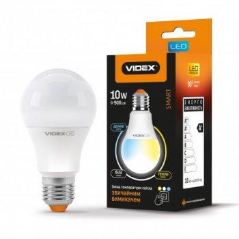 LED лампа з регулюванням кольоровості VIDEX A60eC3 10W 220V E27