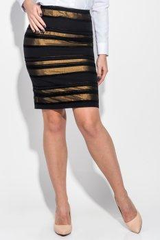 Спідниця жіноча приталена, в смужку Time of Style 68PD541 Фісташково-чорний