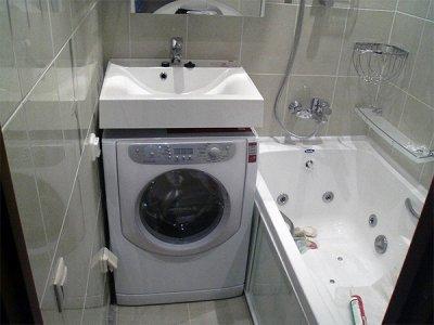 Раковина над стиральной машиной Fancy Marble Lily белая (20261)