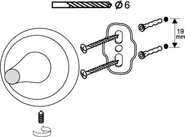 Ершик для унитаза BISK DAKOTA с держателем (71750)
