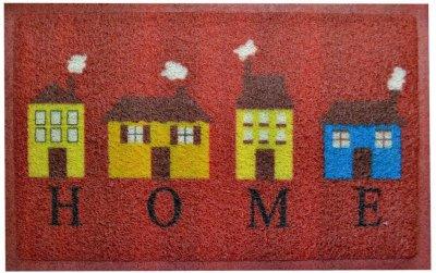 Придверний килимок IzziHome Kivircik Kirmizi Evler 40x60 (2200000543585)