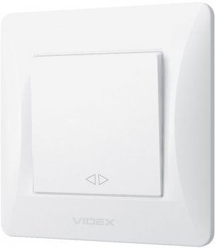 Вимикач одноклавішний VIDEX Binera проміжний Білий (VF-BNSW1I-W)