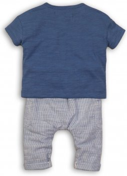Костюм (футболка + шорты) Minoti Wave 3 Синий с белым (до 98 см)