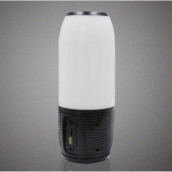 Портативна bluetooth колонка c кольоровим підсвічуванням MP3 плеєр Q690 Pulsation 3 Black