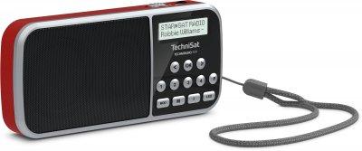 Портативний цифровий радіоприймач TechniSat TECHNIRADIO RDR на батарейках з ліхтариком Червоний (0000/3922)