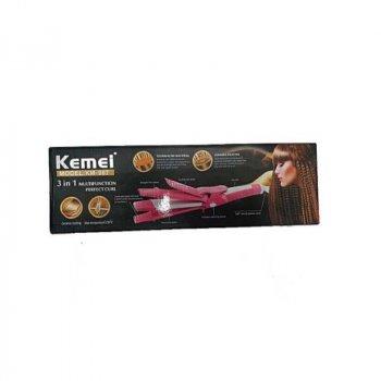 Плойка Kemei GB-KM 987 3 в 1 Розовый/Белый (3628)