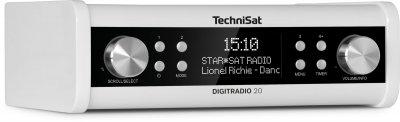 Стаціонарний радіоприймач TechniSat DIGITRADIO 20 DAB+ для кухі і кабінету Білий (0001/4987)