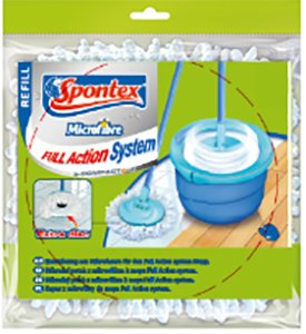 Запаска Spontex Full Action System Power Refill Синяя 24х24х4 см (97050278)