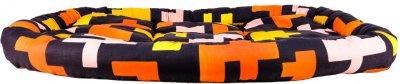Лежак для кішок і собак Форт Нокс FX home Піксель 104 х 82 х 10 см Жовтогарячо-чорний (2820000013576)