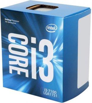 Процесор CPU Core i3-7100 Dual-Core 3,90 Ghz/3Mb/s1151/14nm/51W (BX80677I37100) s1151 BOX