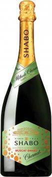Вино игристое Shabo Мускатное полусладкое белое 0.75 л 10.5-13.5% (4820070406764)