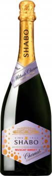 Вино ігристе Shabo Мускатне солодке біле 0.75 л 10.5-13.5% (4820070406863)