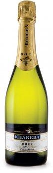 Вино игристое Khareba брют белое сухое 0.75 л 12% (4860001191024)