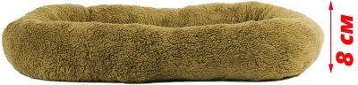 Лежак для кішок і собак Фортнокс FX home Комфорт 72 х 56 х 8 см Коричнево-оливковий (2820000013620)