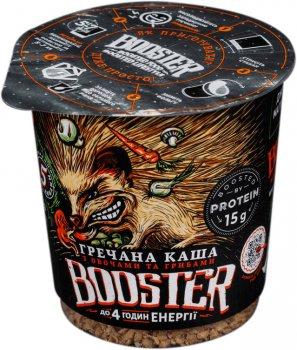 Упаковка гречаної каші швидкого приготування Booster з овочами та грибами 75 г х 4 шт (2000000267456)