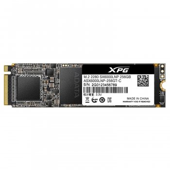 Накопичувач SSD A-DATA XPG SX6000 Lite 256GB M. 2 2280 PCI Express 3.0x4 3D NAND TLC (ASX6000LNP-256GT-C)