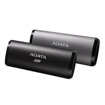 Портативний SSD A-DATA SE760 256GB Portable USB 3.2 Type-C 3D NAND TLC Titanium (ASE760-256GU32G2-CTI)