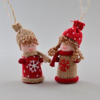 """Набор елочных игрушек Новогодько (YES! Fun) Подвески """"Мальчик и девочка"""" (973423)"""