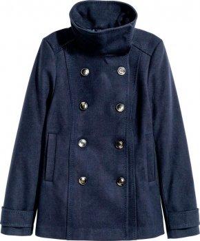 Пальто H&M 390162a44 Синее