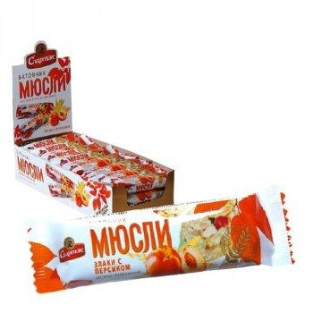 Батончик-мюсли Спартак злаки с персиком 35 г