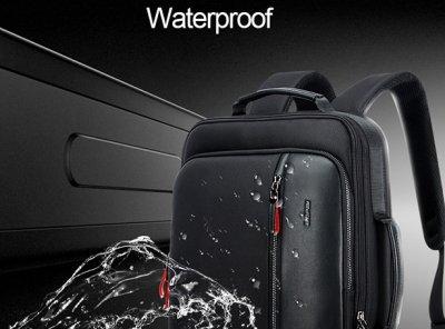 Рюкзак протикрадій Bopai 2в1 з USB портом і відділенням для ноутбука, чорний (751-006641)