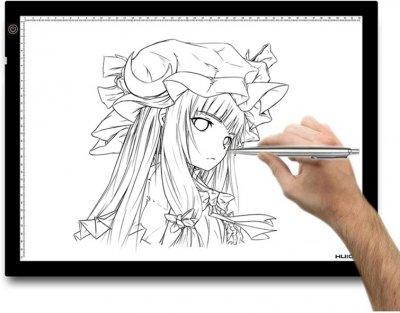 LED-планшет (світлокопіювальний) Huion A3 з рукавицею для малювання