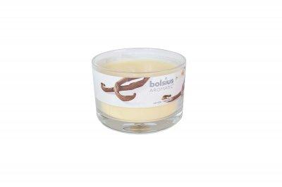 Ароматична свічка Bolsius 6,5х9х9 см Склянку ваніль бежевий (20375)