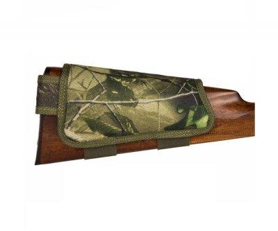 Патронташ на Приклад з Поліестеру Bronzedog Лівша 6 патронів калібр 12/16 Зелений (8106)