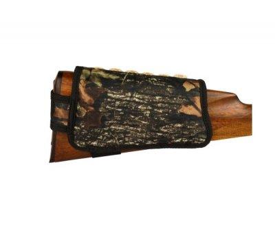 Патронташ на Приклад з Поліестеру Bronzedog Лівша 6 патронів калібр 12/16 Чорний (8107)