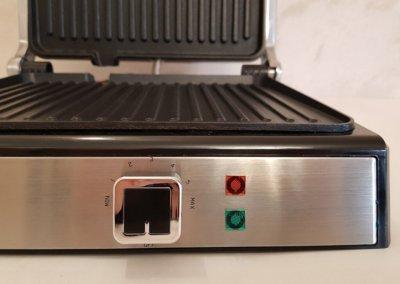 Гриль DSP KB1048 електричний 1800 Вт + пластини антипригарне покриття та управління температурою Сірий (11900)