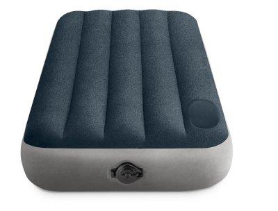 Односпальне надувне ліжко Intex 64781 99-191-25см технологія Fiber-Tech ™ + Вбудований електронасос 220V