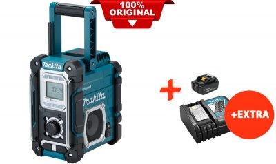 Акумуляторний радіоприймач Makita DMR108+акк.18V 5 Ah+швидкозарядний ЗУ (DMR108RT)