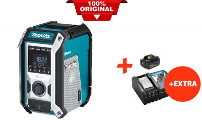 Акумуляторний радіоприймач Makita DMR114+акк.18V 5 Ah+швидкозарядний ЗУ (DMR114RT)