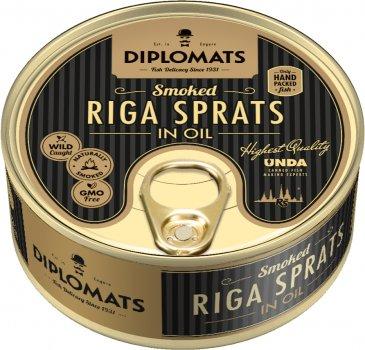 Шпроты Diplomats рижские в масле 160 г (4750010502228)