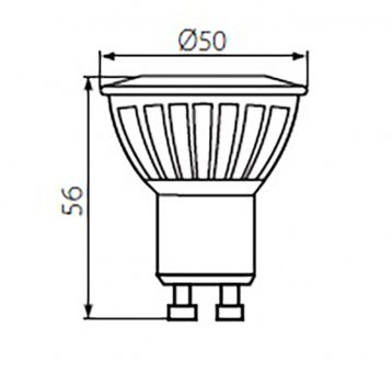 Светодиодная лампа Kanlux TEDI MAXX LED GU10-CW (23413)