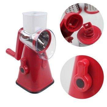 Овощерезка ручная для дома механическая кухонная для овощей кубиками Kitchen Master Красная