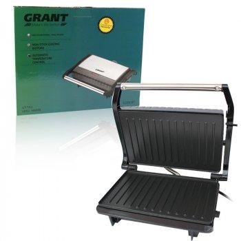 Контактний гриль прижимний електричний Grant GT-782 1200W Чорний