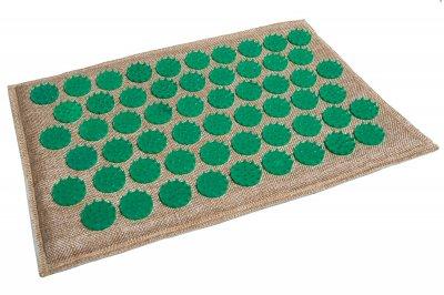 Масажний килимок (аплікатор Кузнєцова) Lounge Mini 32*21 см Зелений