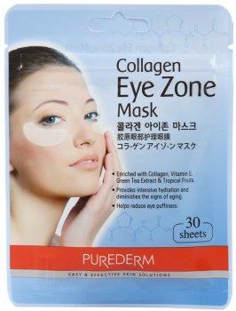 Набір тканинних патчів під очі з колагеном Purederm Collagen Eye Zone Mask 30 шт. (8809052582616)