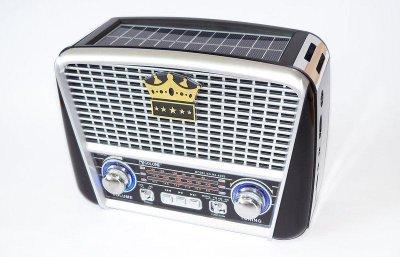 Портативна колонка MP3 USB Golon RX-455S Solar з сонячне панеллю Black-Silver