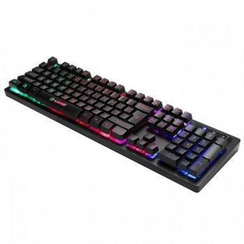 Комплект клавіатура + миша Marvo КМ409 Combo 7colors-LED Black USB