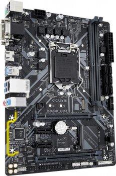 Мат. плата MB GigaByte B365M HD3 (iB365/s1151/2xDDR4 2666MHz/2xPCIe x16/2xPCIe x1/1xM.2 port/6xSATA3/Raid 0,1,5,10/Glan/4xUSB3.1/2xUSB2.0/HDMI, D-Sub, DVI/Audio 7.1 ch/mATX)