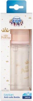 Бутылка антиколиковая Canpol Babies Royal Baby с широким отверстием 240 мл Розовая (35/234_pin)