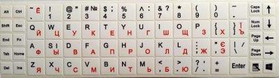 Наклейка на клавіатуру Value Деколь для клавіатури Lat/Ukr/Rus Solid різнобарвний(98.00.0004)
