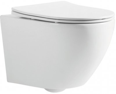 Инсталляция OLI 80 SanitarBlock с панелью смыва Slim белая + унитаз DEVIT Universal 3020162 с сиденьем Soft Close дюропласт