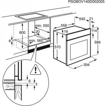 Духовой шкаф Electrolux - EZB 53430 AX