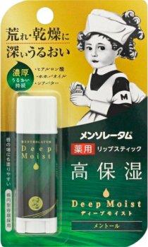 Гиалуроновый бальзам для губ Mentholatum Deep Moist LipBalm Menthol 4.5 г (4987241148387)