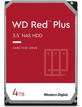 Жорсткий диск Western Digital Red Plus 4TB 5400rpm 128МB WD40EFZX 3.5 SATA III