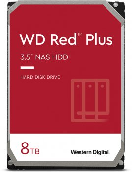 Жорсткий диск Western Digital Red Plus 8 TB 7200 rpm 256 MB WD80EFBX 3.5 SATA III