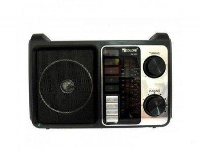 Портативная колонка радио MP3 USB Golon RX-333+BT c Bluetooth Wooden (3717)